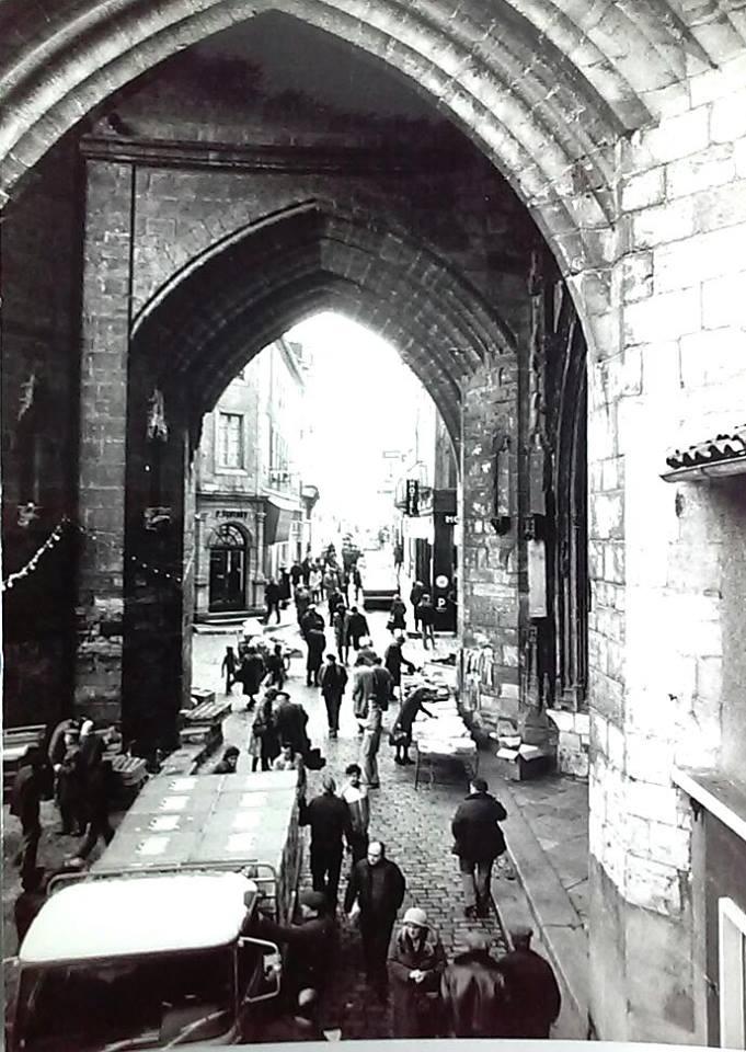 Collégiale de Villefranche-de-Rouergue, photo ancienne