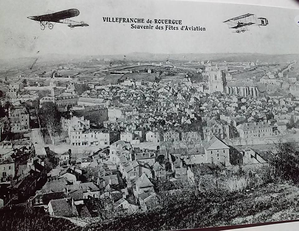 Photo ancienne de Villefranche-de-Rouergue, fête de l'aviation 1911