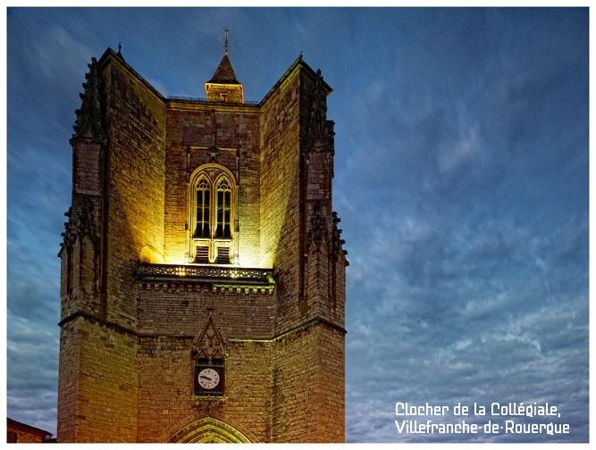 clocher de la collégiale Villefranche-de-Rouergue