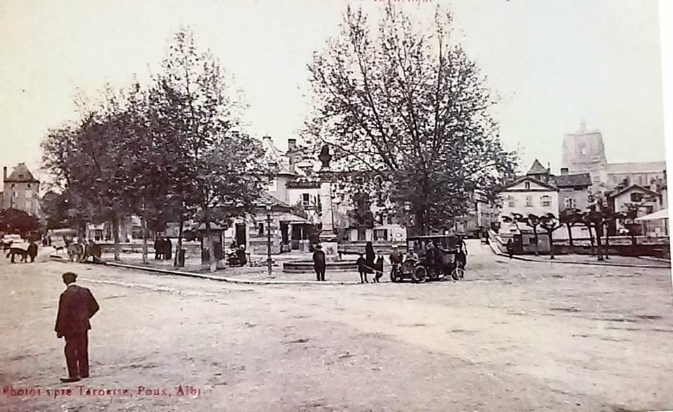 place république 1905, photo ancienne Villefranche de Rouergue