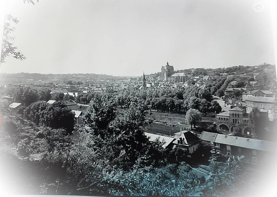 vue de villefranche de rouergue, photo ancienne