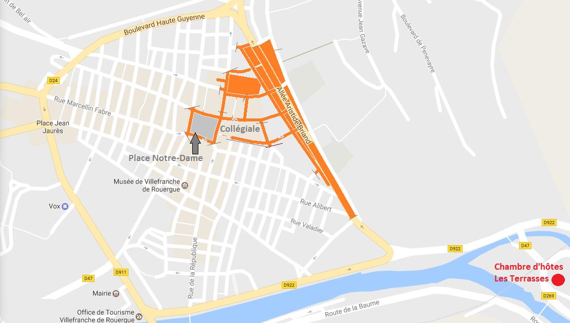 plan marché villefranche de rouergue jeudi